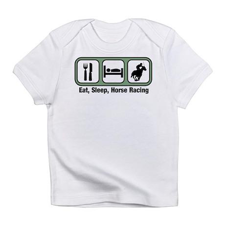 Eat, Sleep, Horse Racing Infant T-Shirt