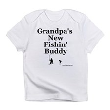"""Grandpa's Fishin' Buddy"" Infant T-Shirt"
