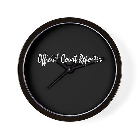 Official Court Reporter Wall Clock
