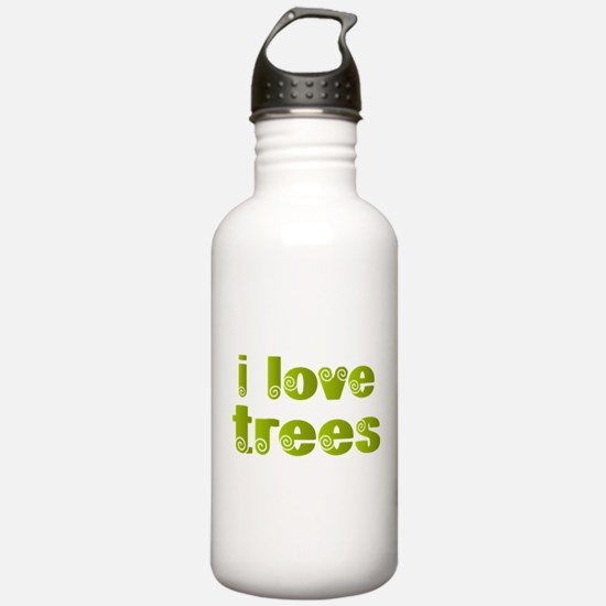 I Love Trees Water Bottle