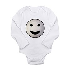 Volleyball Smiley Face Long Sleeve Infant Bodysuit