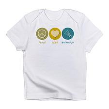 Peace Love Badminton Infant T-Shirt