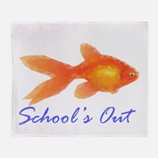 Schools out Throw Blanket