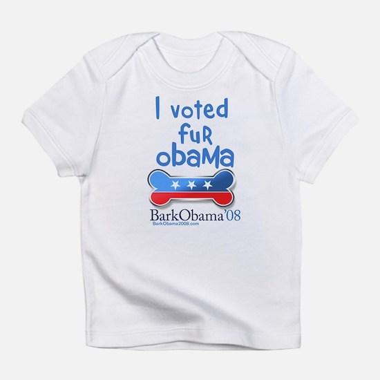 I voted fur Obama Infant T-Shirt