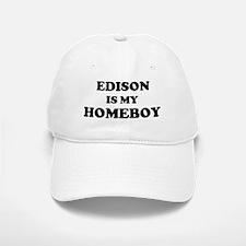 Edison Is My Homeboy Baseball Baseball Cap