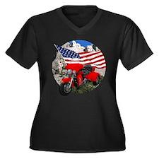 Rushmore Trike Women's Plus Size V-Neck Dark T-Shi