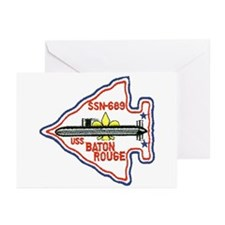 USS Baton Rouge SSN 689 Greeting Cards (Pk of 10)
