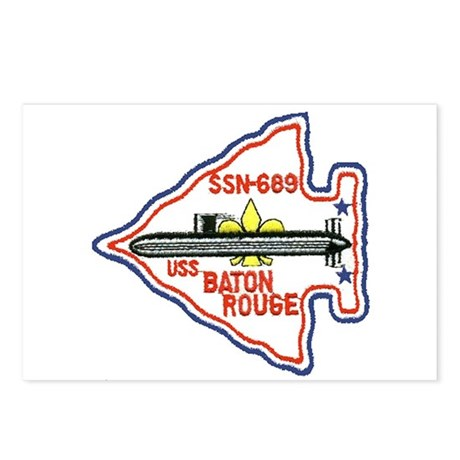USS Baton Rouge SSN 689 Postcards (Package of 8)