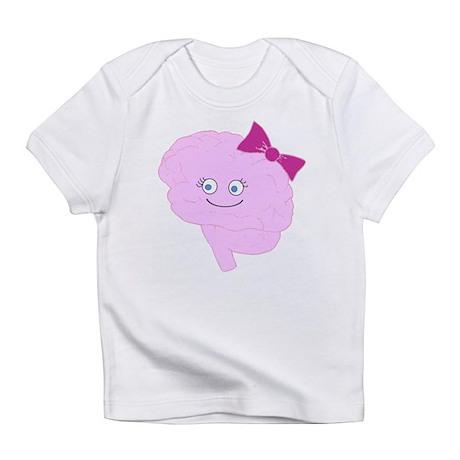 Cartoon Brainy Girl Infant T-Shirt