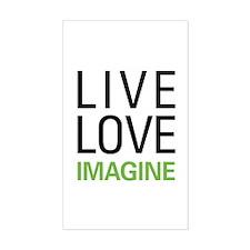 Live Love Imagine Decal