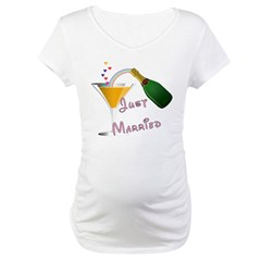 Just Married Champagne Shirt