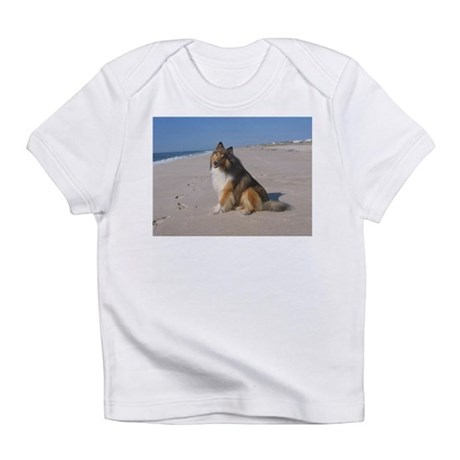 Collie at the Beach Infant T-Shirt
