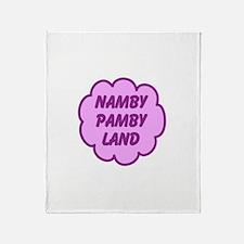 Namby Pamby Land Throw Blanket