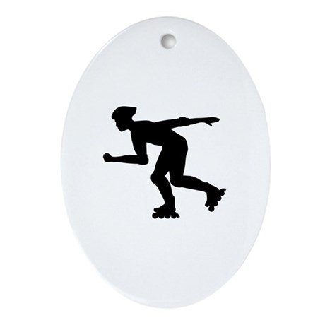 Inline skating Ornament (Oval)