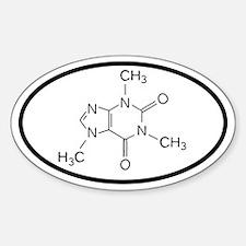 Caffeine Molecule Oval decal Decal