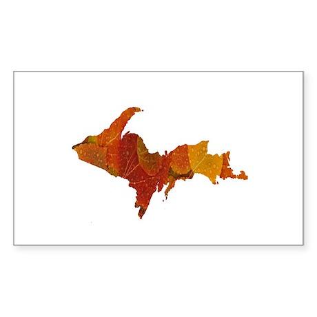 Autumn Leaves U.P. Sticker (Rectangle 50 pk)