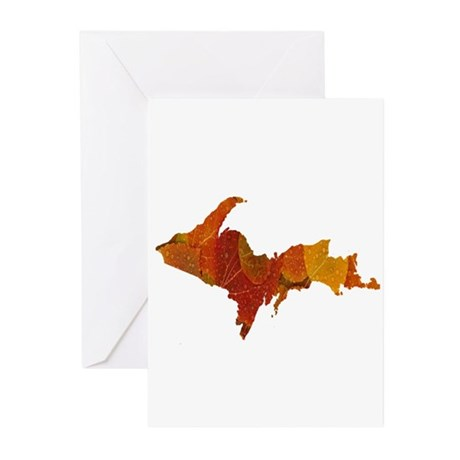 Autumn Leaves U.P. Greeting Cards (Pk of 10)
