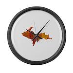 Autumn Leaves U.P. Large Wall Clock