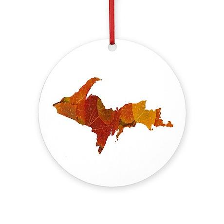Autumn Leaves U.P. Ornament (Round)