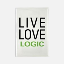Live Love Logic Rectangle Magnet