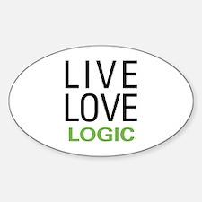 Live Love Logic Sticker (Oval)