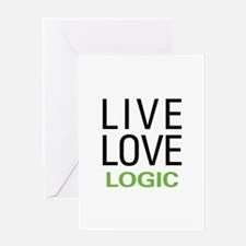Live Love Logic Greeting Card