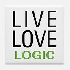 Live Love Logic Tile Coaster