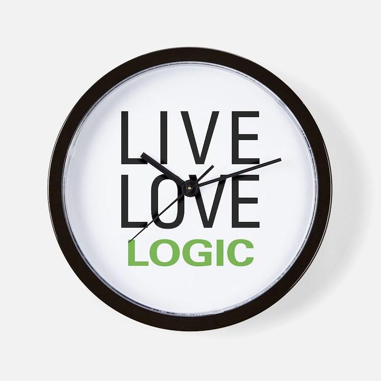 Live Love Logic Wall Clock