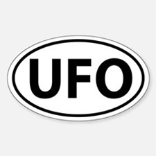 UFO Sticker (Oval)