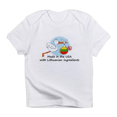 Stork Baby Lithuania USA Infant T-Shirt