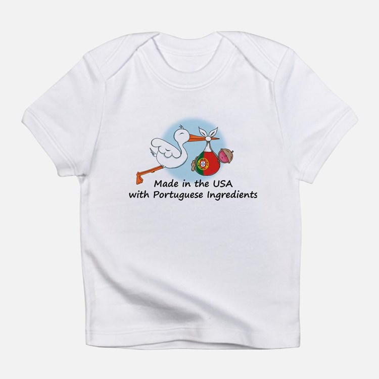 Stork Baby Portugal USA Infant T-Shirt
