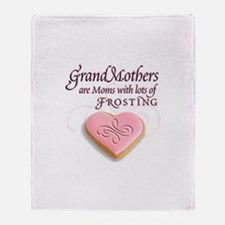 Grandmas are frosting Throw Blanket