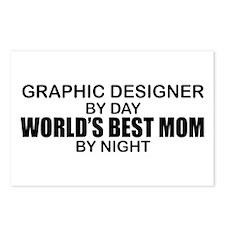 World's Best Mom - GRAPHIC DESIGNER Postcards (Pac