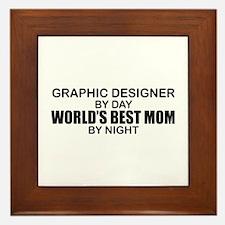 World's Best Mom - GRAPHIC DESIGNER Framed Tile