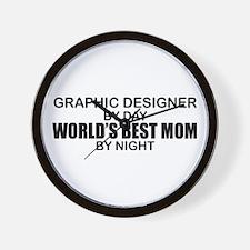 World's Best Mom - GRAPHIC DESIGNER Wall Clock