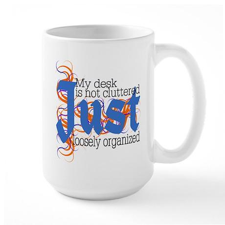 Cluttered Desk Large Mug