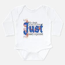 Cluttered Desk Long Sleeve Infant Bodysuit