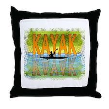 Kayak Reflections Throw Pillow