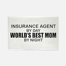 World's Best Mom - INSURANCE AGENT Rectangle Magne
