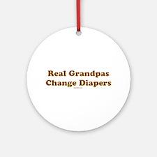 Grandpas Change Diapers Ornament (Round)