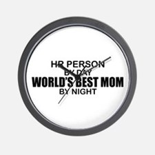 World's Best Mom - HR Wall Clock