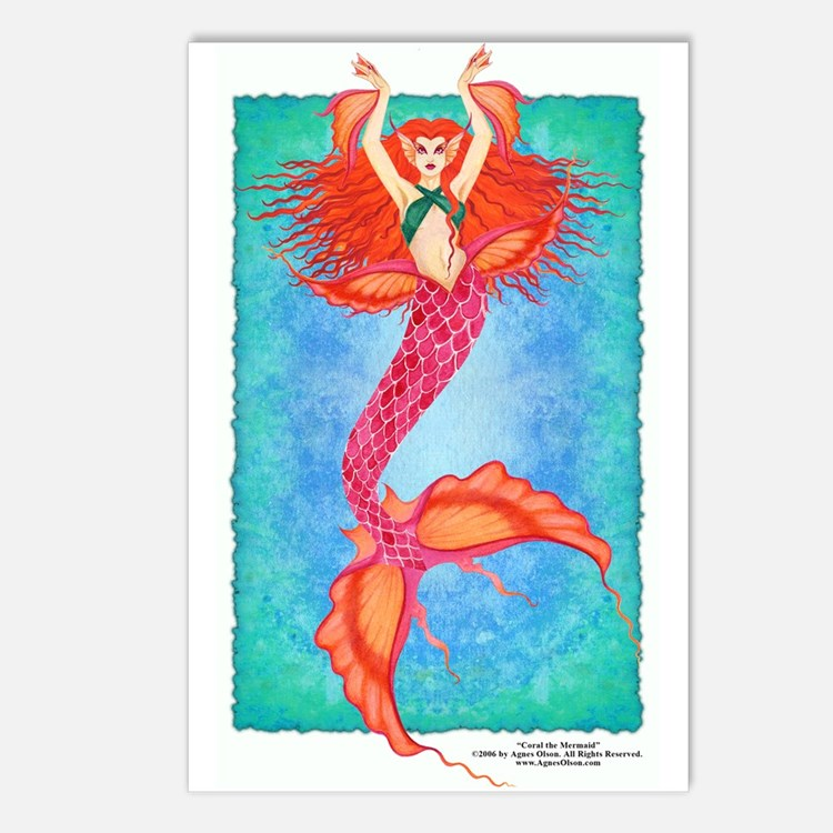 """Coral the Mermaid"" 8 - Postcards"
