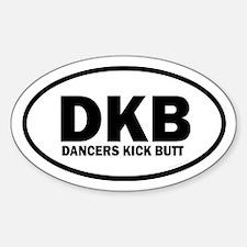DKB Dancers Kick Butt Euro Decal