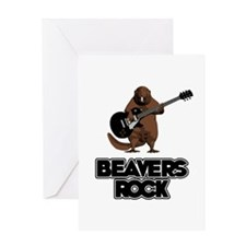 Beavers Rock Greeting Card