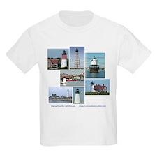 Massachusetts Lighthouses Kids T-Shirt