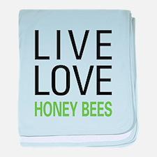 Live Love Honey Bees baby blanket