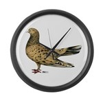 Flying Oriental Roller Almond Large Wall Clock