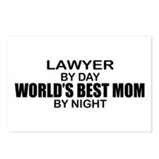 World's Best Mom - LAWYER Postcards (Package of 8)