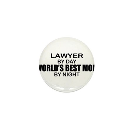 World's Best Mom - LAWYER Mini Button