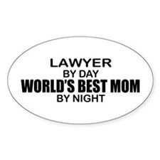 World's Best Mom - LAWYER Decal